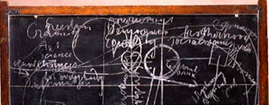 Coffee Lecture - The Blackboards, Dublin (1974) by Joseph Beuys